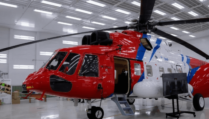 The first offshore helicopter is assembled at a plant in Ulan-Ude