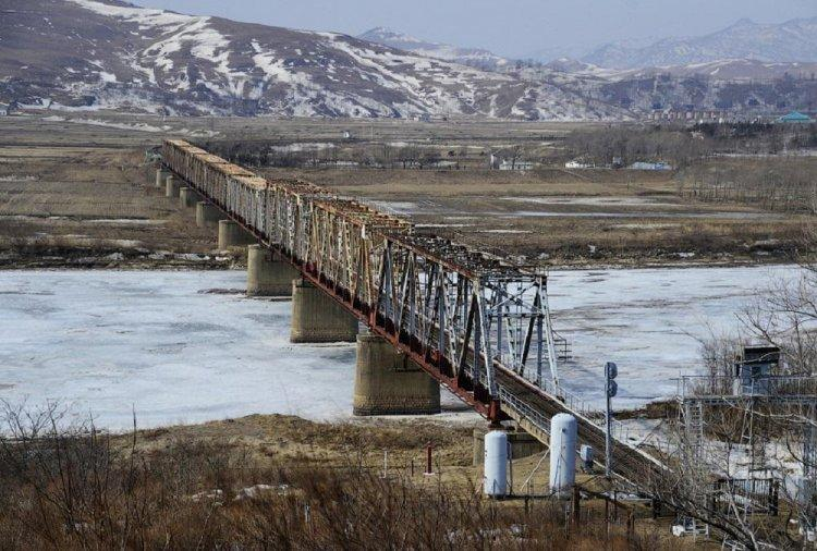 DPRK one bridge with Russia a little