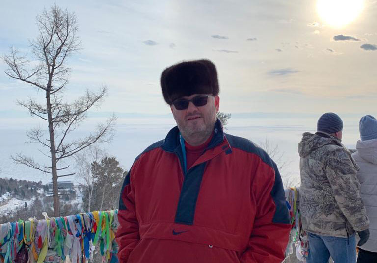 Louis Crishok during his visit to Baikal