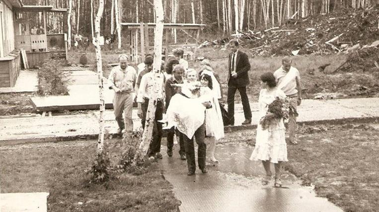Wedding Komsomol first builders 1986.jpg