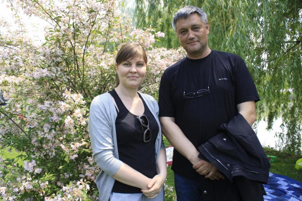 Evgeny Boyarkin and Marina Marchenko (organizers of the meetings, administrators of the group and chat rooms DV) .jpg