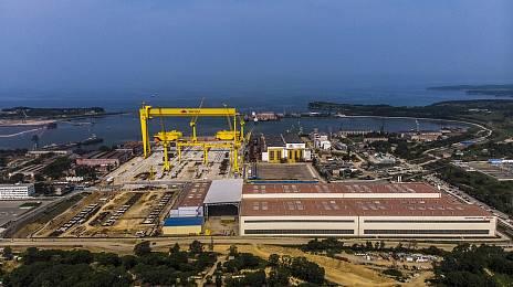A huge shipyard is a huge ship