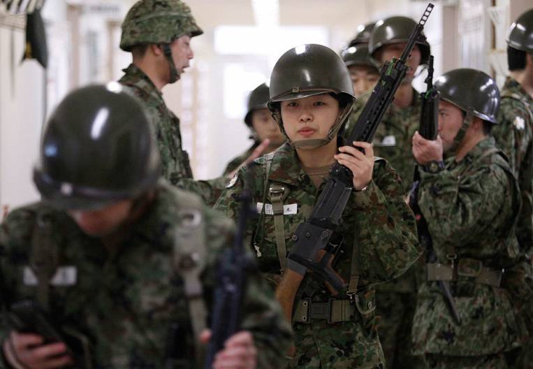Threats Japan Presses on the Military Budget