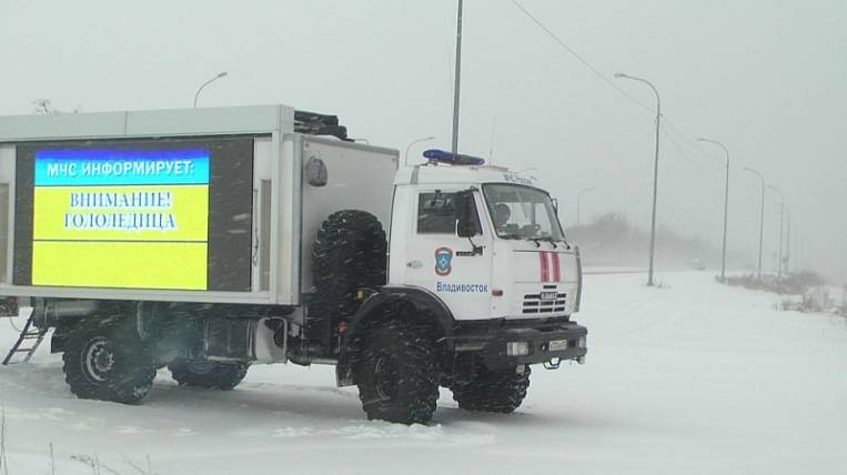 Storm warning and snowfall predicted in Primorye
