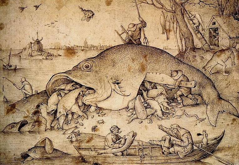 Large fish devour small