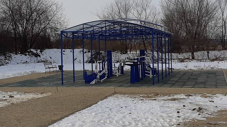 A sports ground under the state program appeared in the village of Cheremkhovo in the Amur region