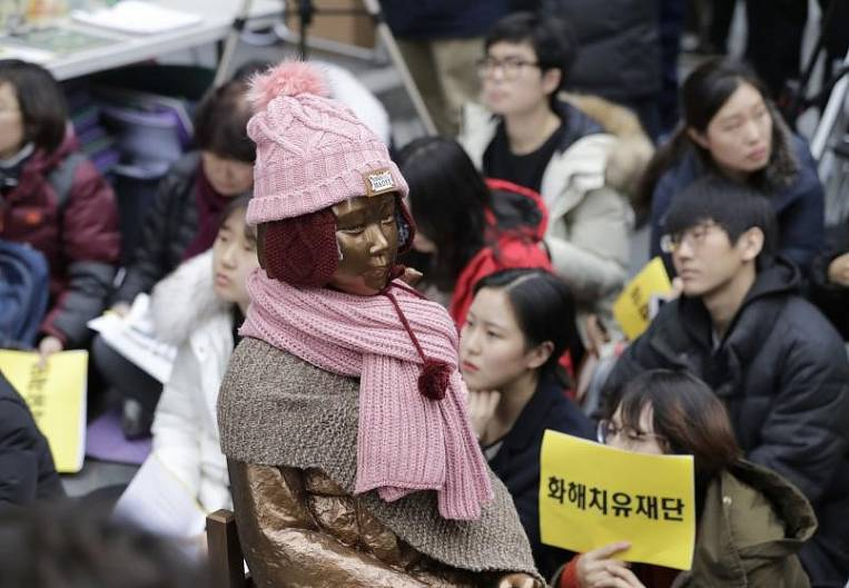 In Korea, dissolve the fund to help women victims of Japanese brothels