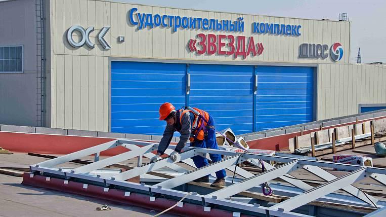 Путин иСечин открыли первую очередь судоверфи «Звезда»