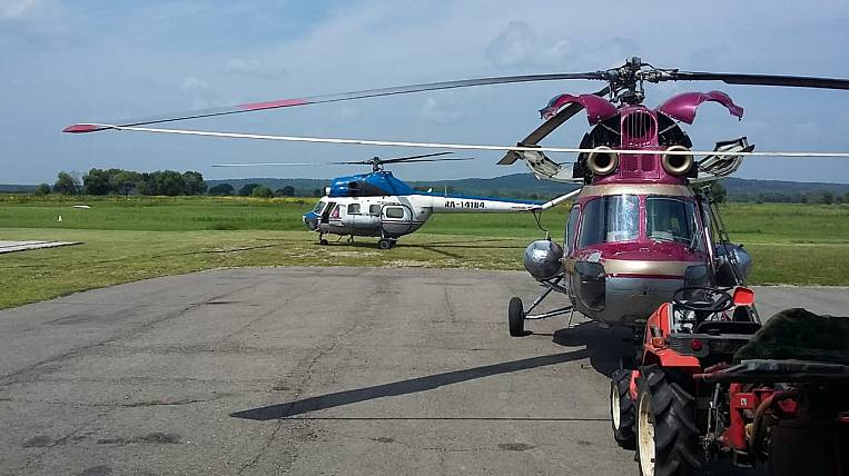 The helipad was equipped on the Far Eastern hectare in Primorye