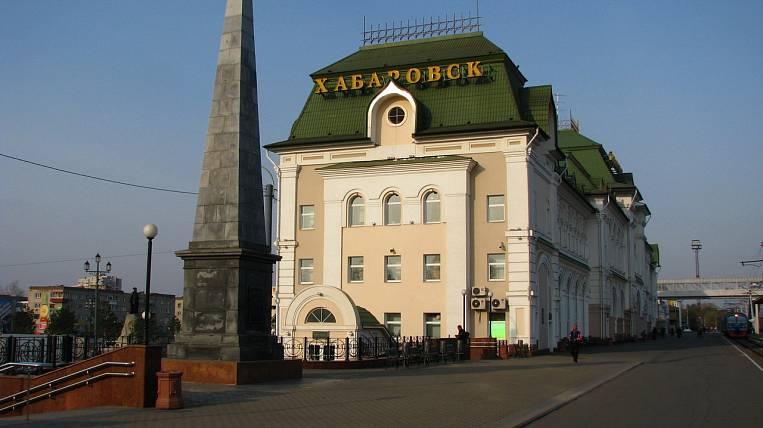 железнодорожный вокзал комсомольска-на-амуре морозным ноябрьским утром