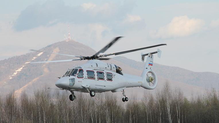 Первый опытный образец многоцелевого вертолета Ка-62 поднялся в воздух