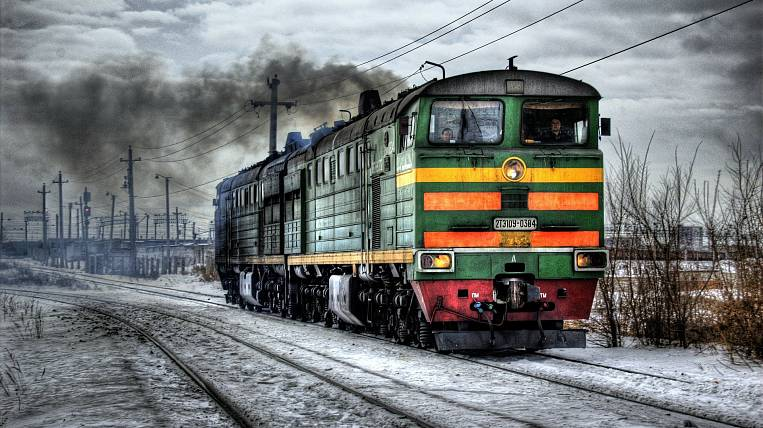 The locomotive collided with a car in the Amur region