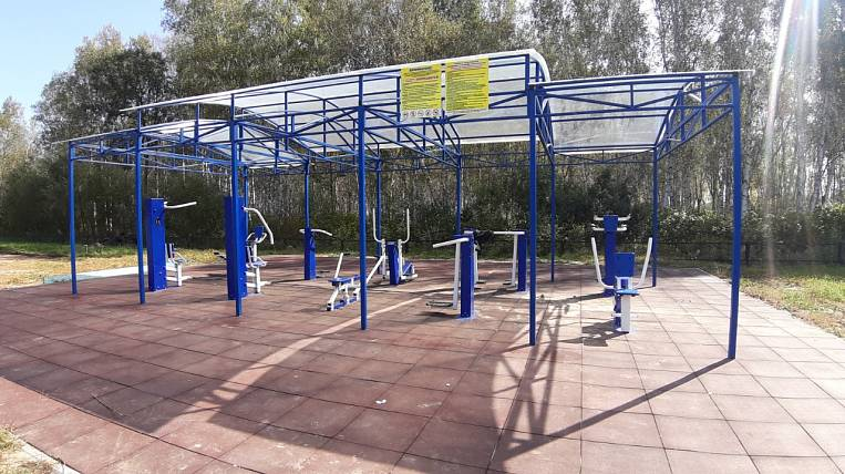 A sports ground under the state program was installed in a village in the Amur region