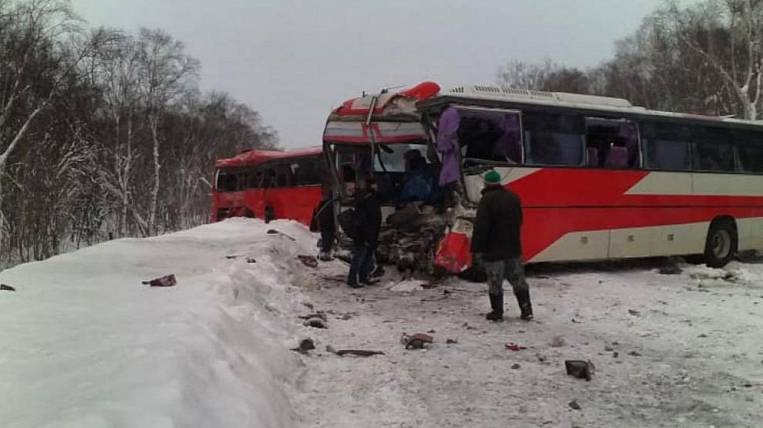 Drivers of two regular buses killed in collision in Kamchatka